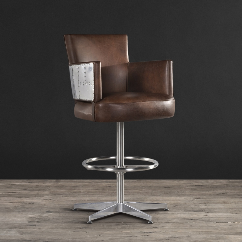 Lot 45 - Swinderby Barstool Antique Whisky Leather Sojourn On The Swinderby, Clad In Our Luxurious Leathers –