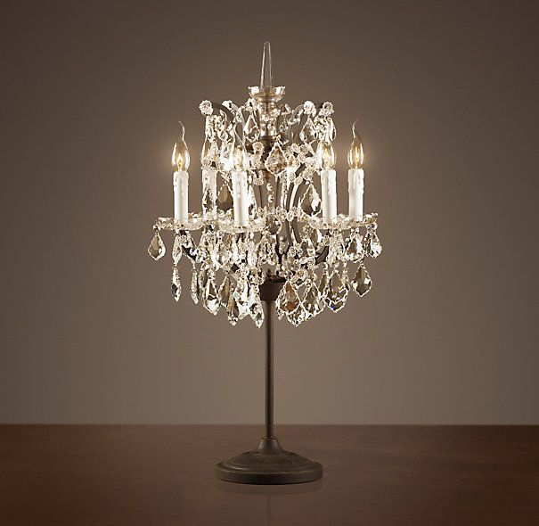Lot 40 - Crystal Chandelier Table Lamp The Crystal Chandelier Collection Is Inspired By The Elaborate Designs