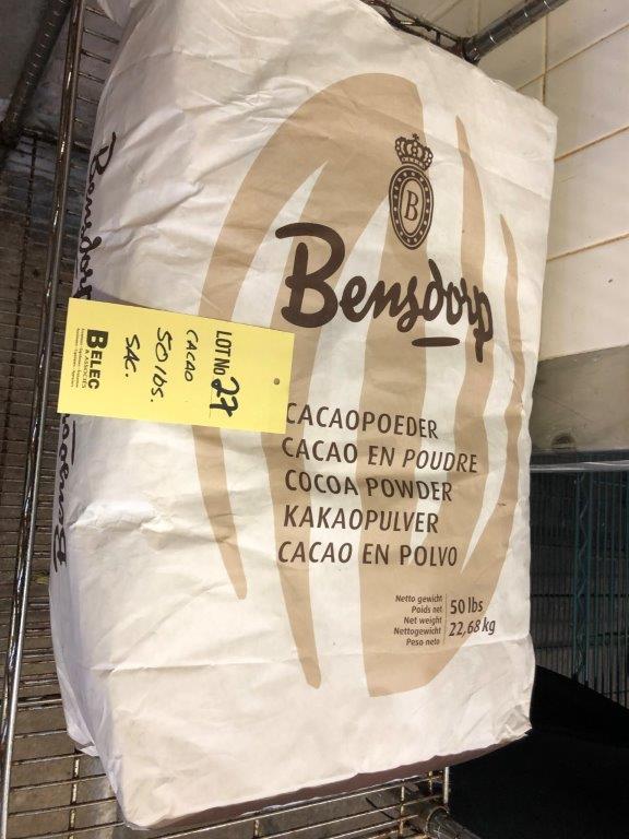 Lot 27 - Sac de Poudre de Cacao 50 lbs BENSDORP