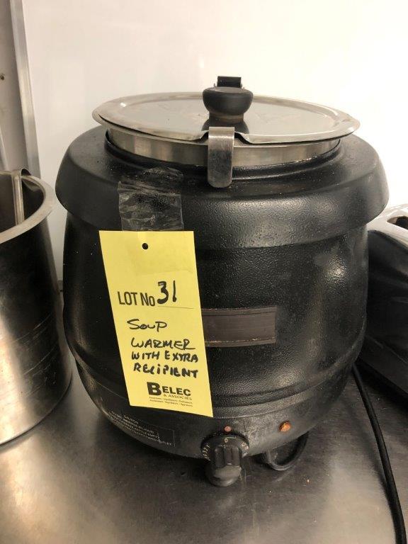 Lot 31 - Réchaud à soupe avec recipient en extra