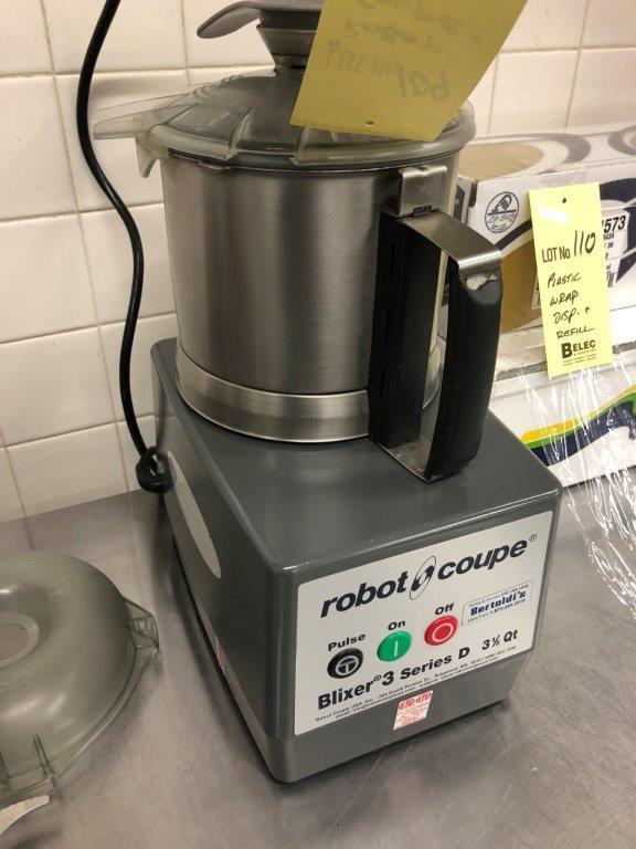 Lot 109 - ROBOT COUPE # BLIXER series D 3 1/2 qt - FONCTIONEL