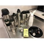 Lot d'accessoires à café acier inox & disp crème fouettée