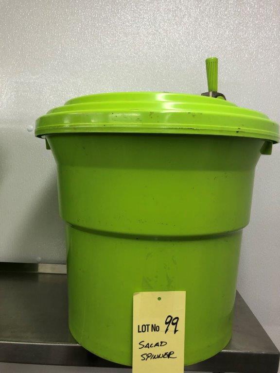 Lot 99 - Grosse Essoreuse à salade vert commerciale