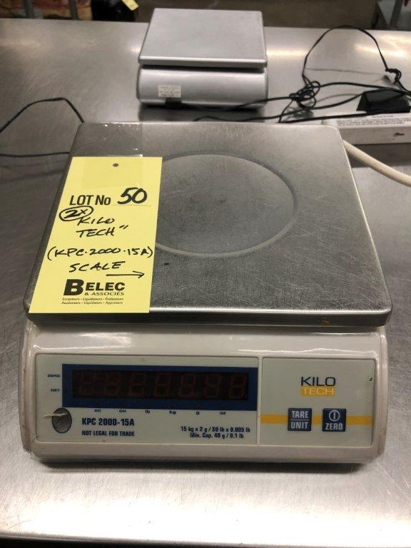 Lot 50 - (2) Balances KILO TECH # KPC 2000 15 A
