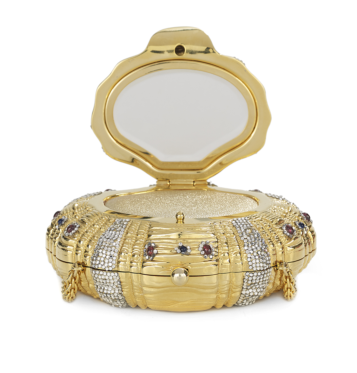 Lot 596 - Vintage Judith Leiber Jeweled Minaudiere
