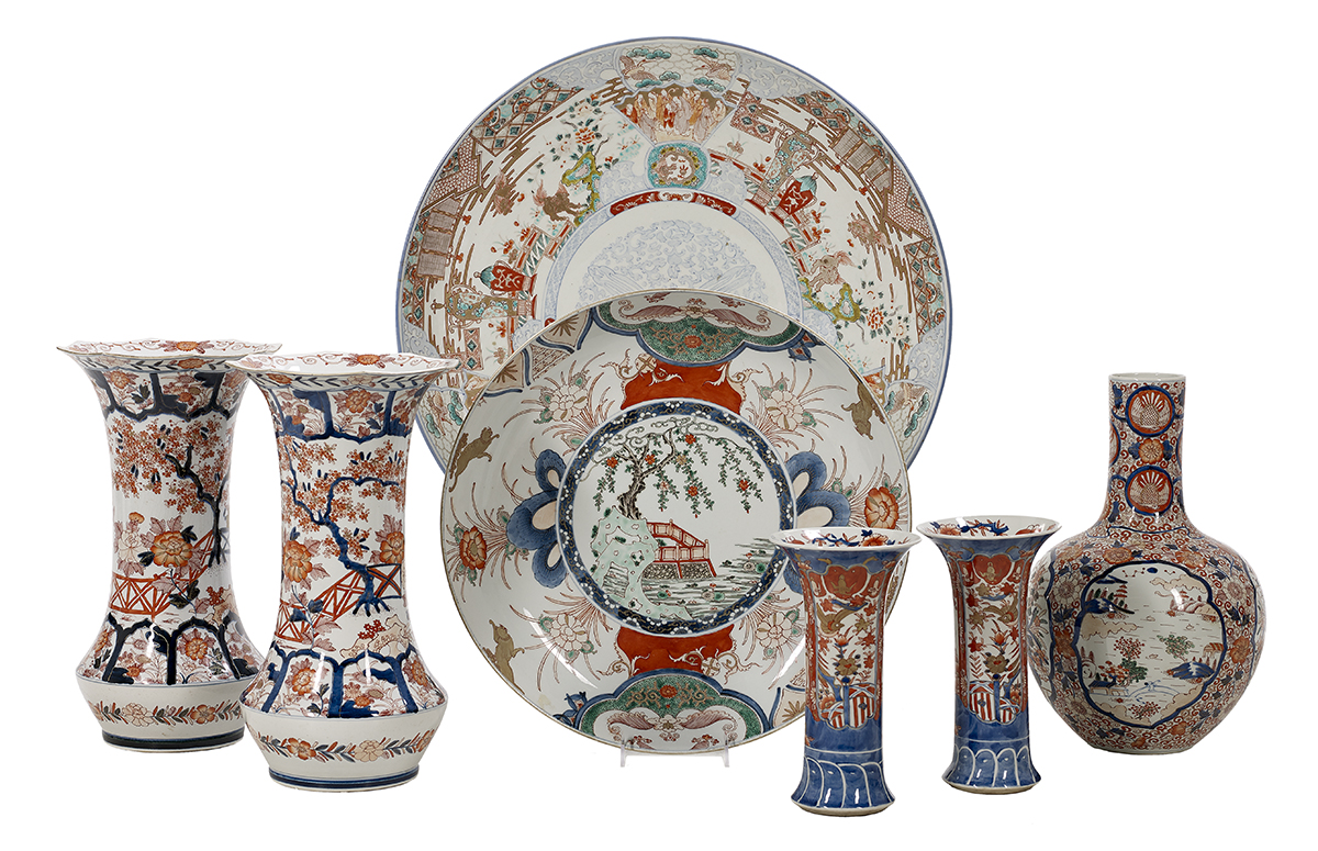 Lot 466 - Sevens Pieces of Japanese Imari Porcelain