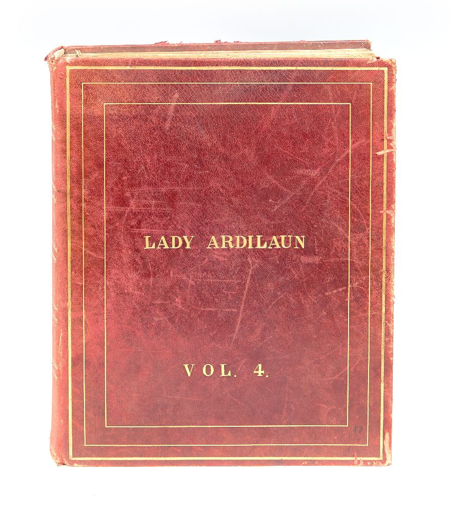 Lot 648 - LADY ARDILAUN AND THE GREAT WARAn album complied by Olive Guinness containing mss postcards,