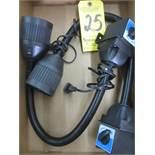 (2) Magnetic Base Work Lights
