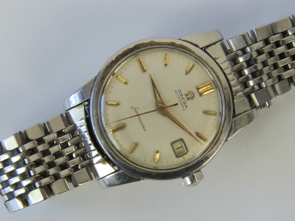 Lot 351 - A vintage Omega Seamaster Automatic wristwatch with original stainless steel strap,