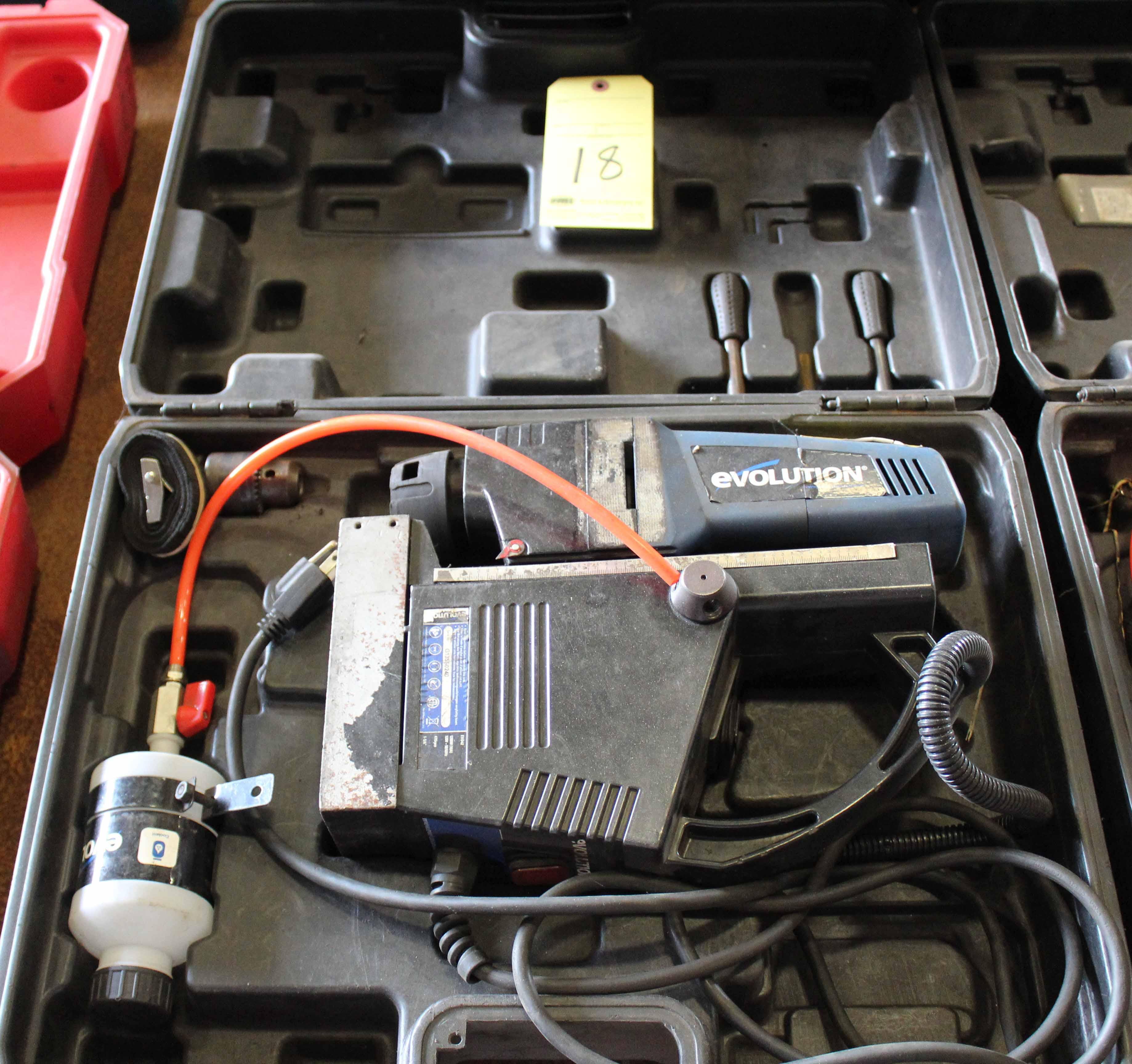 Lot 18 - MAGNETIC BASE DRILL, EVOLUTION MDL. EV042
