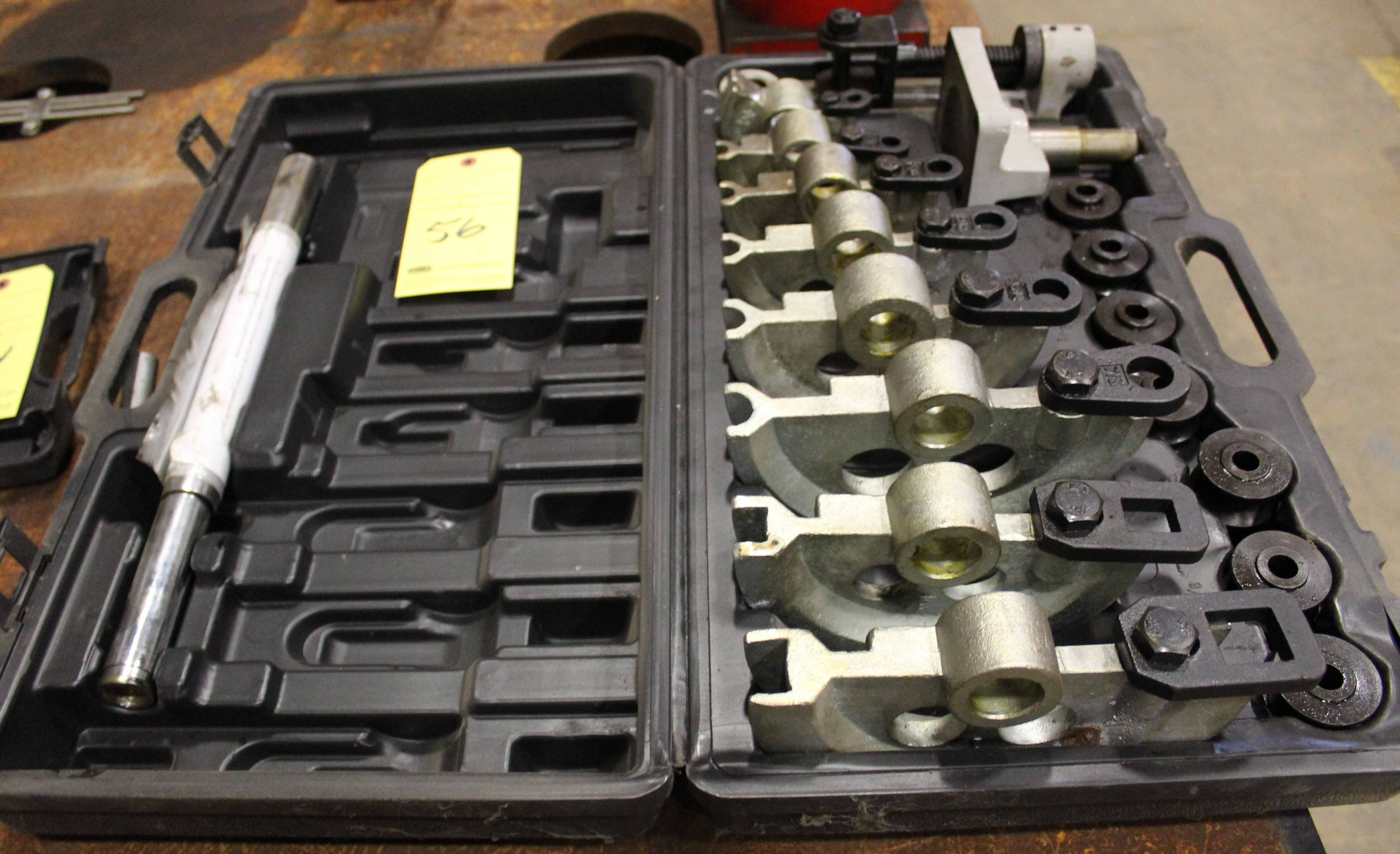 "Lot 56 - MANUAL PIPE BENDER KIT, 3/8"" to 1"" dies"
