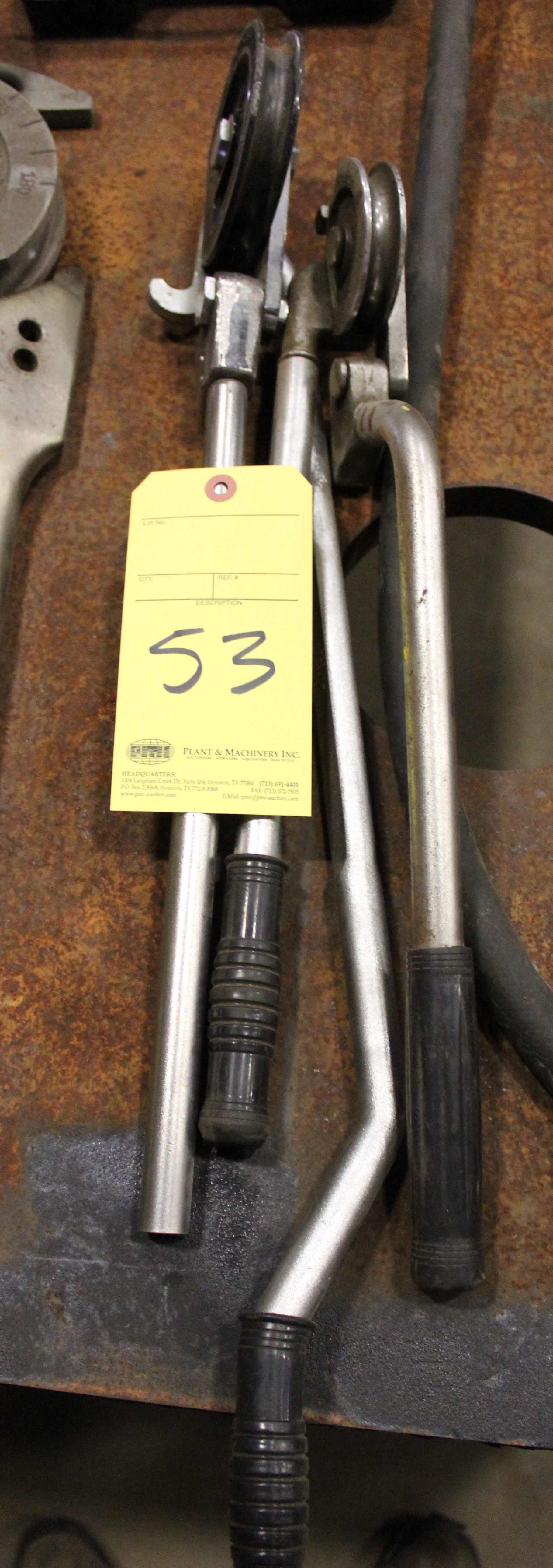 """Lot 53 - LOT OF MANUAL TUBING BENDERS (2), 1/2"""" O.D."""