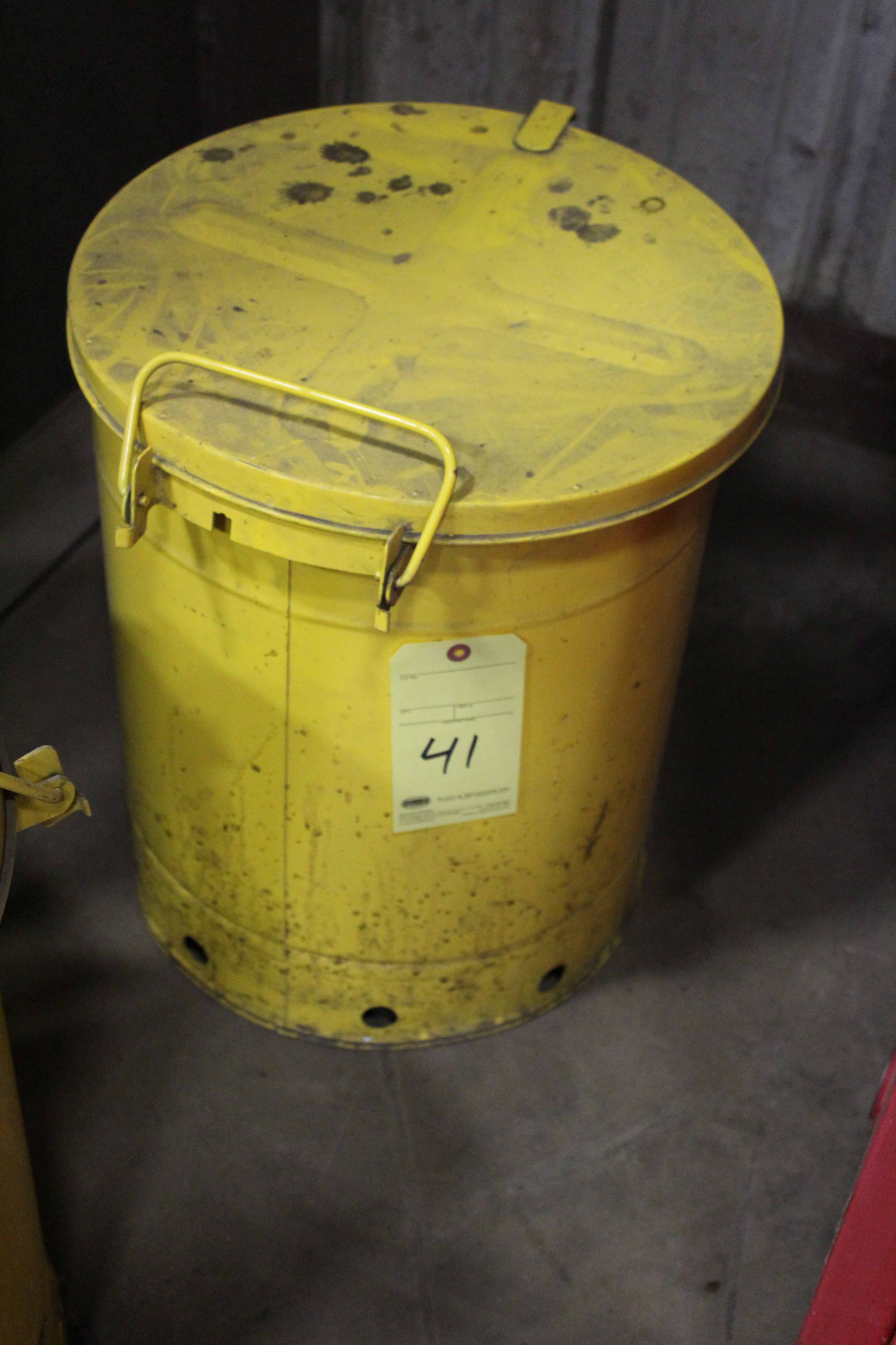 Lot 41 - OILY RAG WASTE CAN