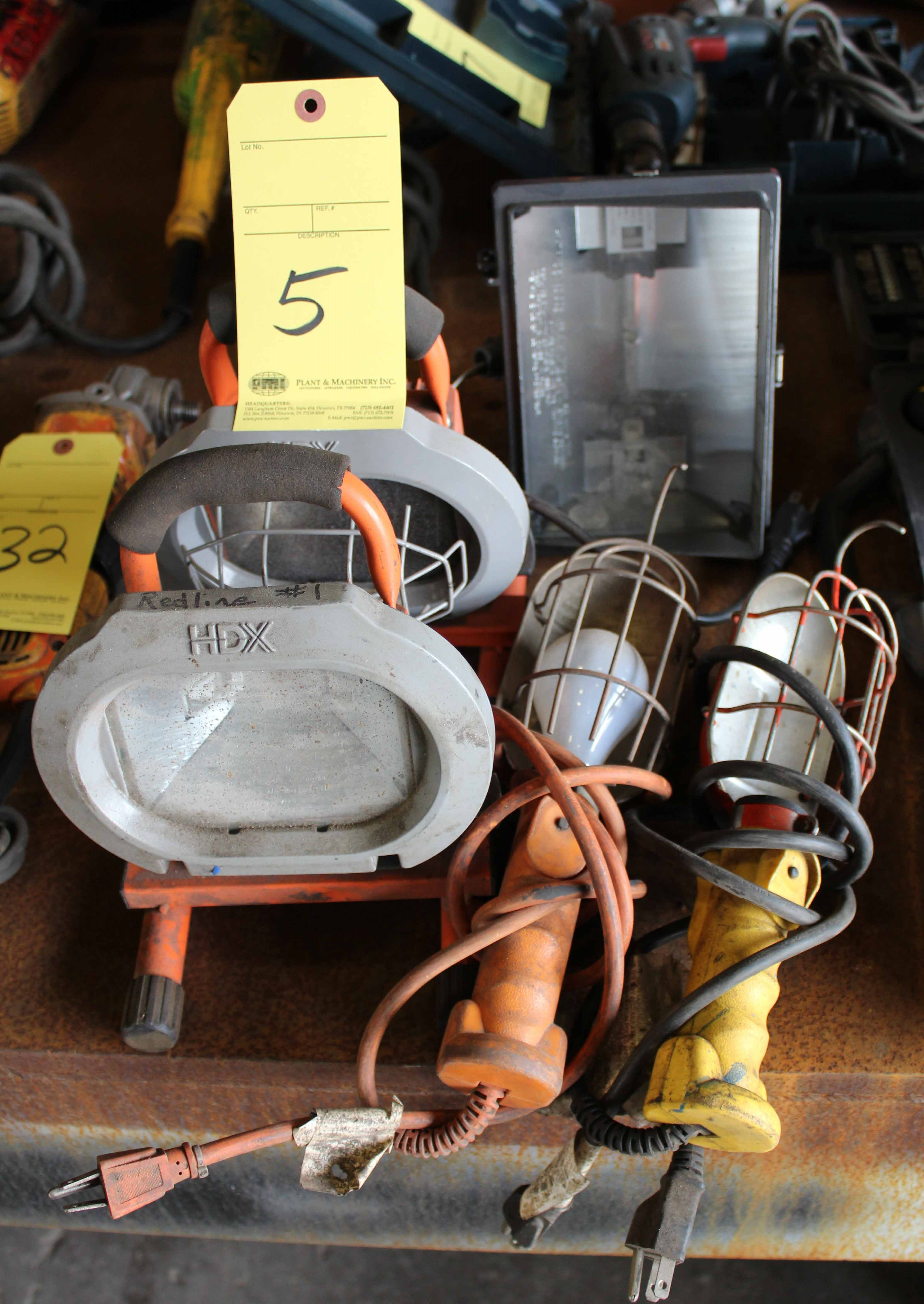 Lot 5 - LOT OF WORKLIGHTS (5), assorted