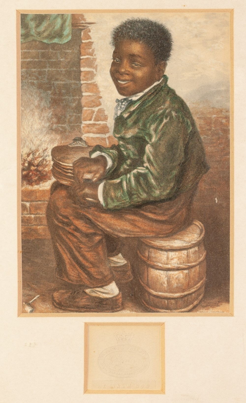 Lot 210 - PAIR OF BAXTER PRINTS 'Me Warm Now' 'The Young Chimney Sweep' Both with blind stamp to a cut-out