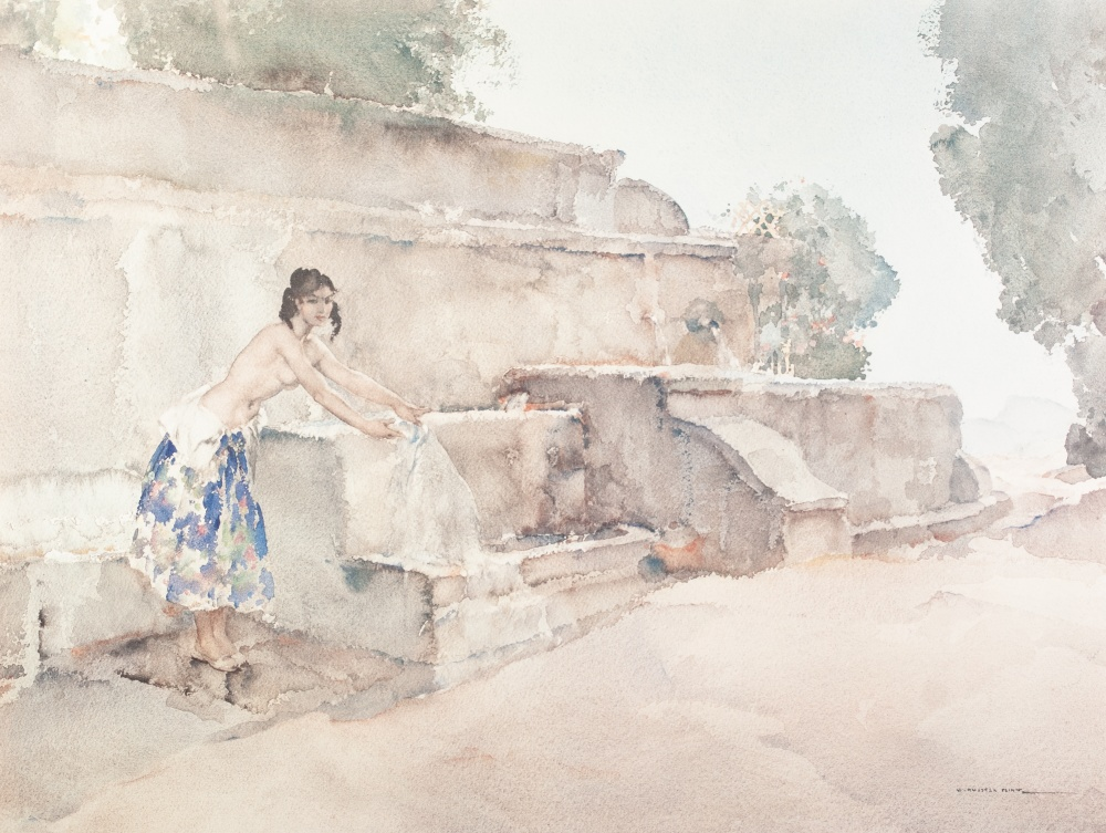 Lot 223 - SIR WILLIAM RUSSELL FLINT ARTIST SIGNED COLOUR PRINT 'Isabella of Lucenay' Signed in pencil and with