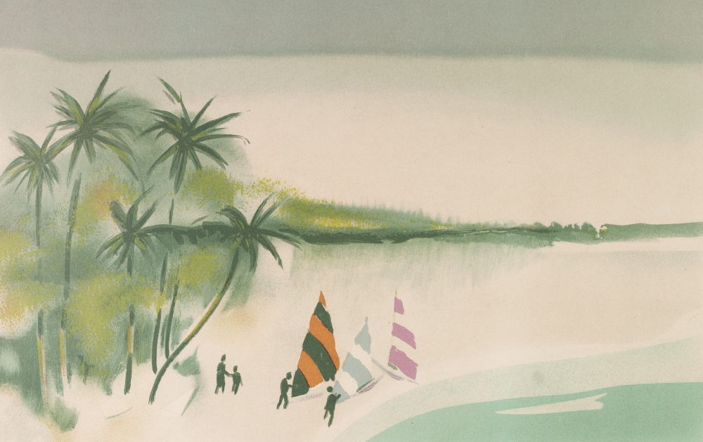 Lot 219 - THOMAS KRUGER (1918) COLOURED LITHOGRAPHIC PRINTS, A MATCHED SUITE OF FOUR Published by Christies