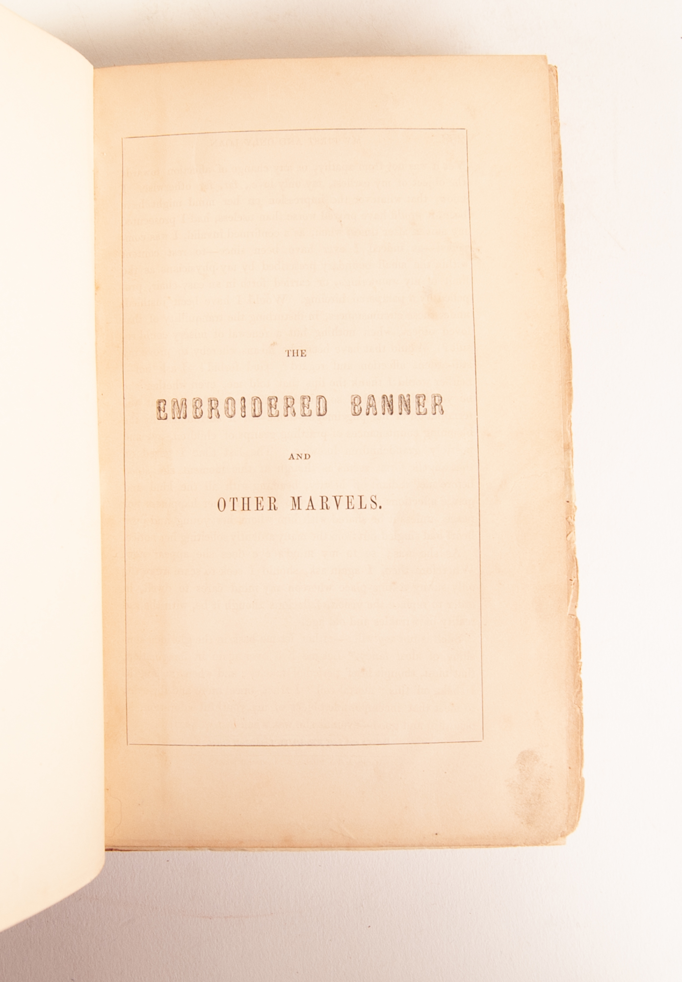 Lot 128 - LIEUTENANT COLONEL HART. The Embroidered Banner and other Marvels. Published by John and Daniel A