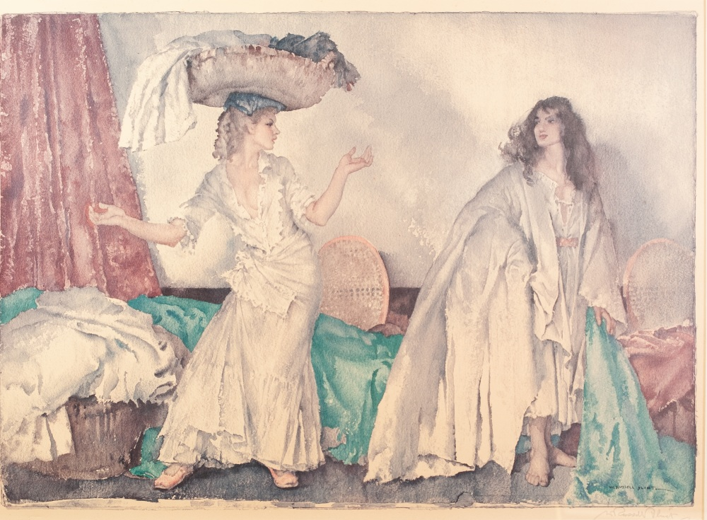 Lot 225 - SIR WILLIAM RUSSELL FLINT ARTIST SIGNED COLOUR PRINT 'Balance' Signed in pencil and with blind stamp
