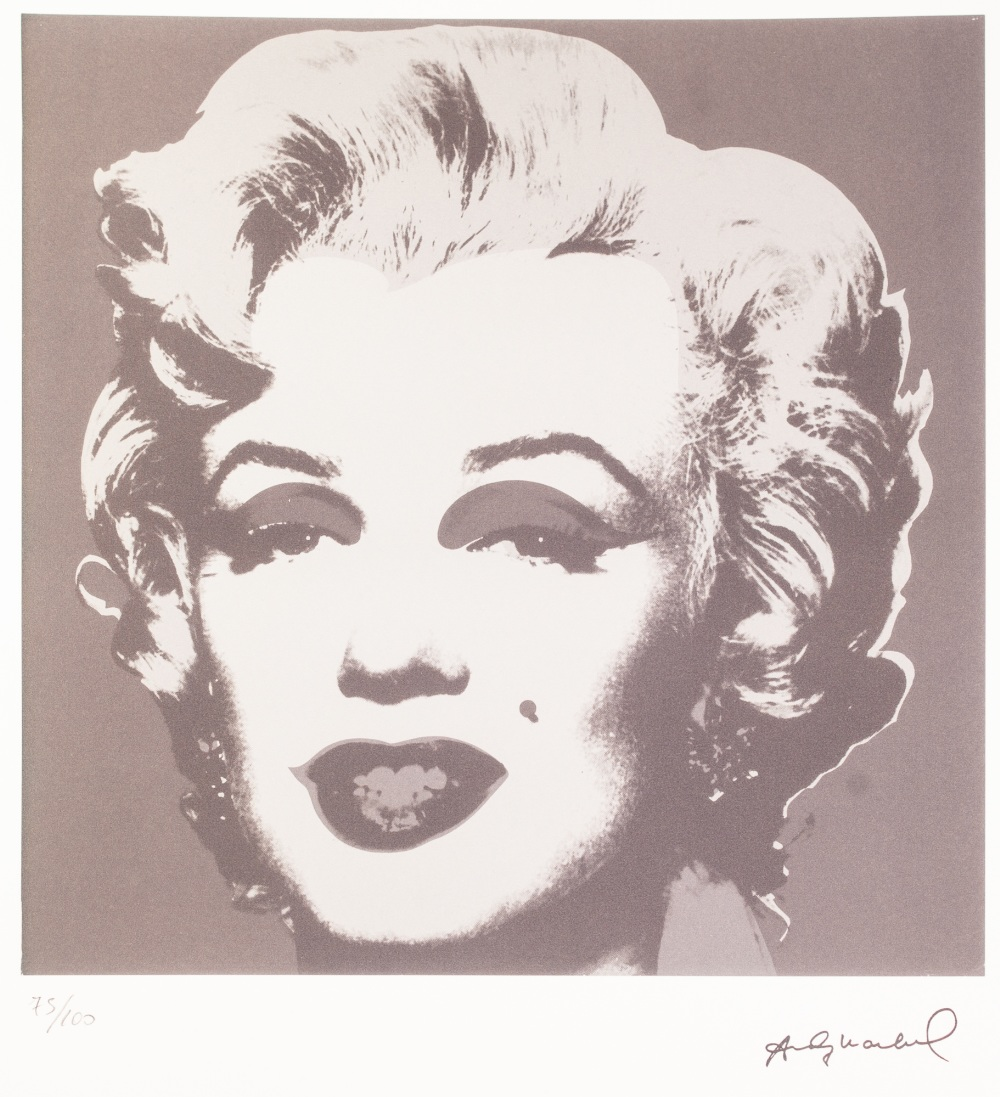 Lot 194 - ANDY WARHOL (AMERICAN 1928 - 1987) LITHGRAPHIC PRINT ON ARCHES PAPER 'Black and white negative