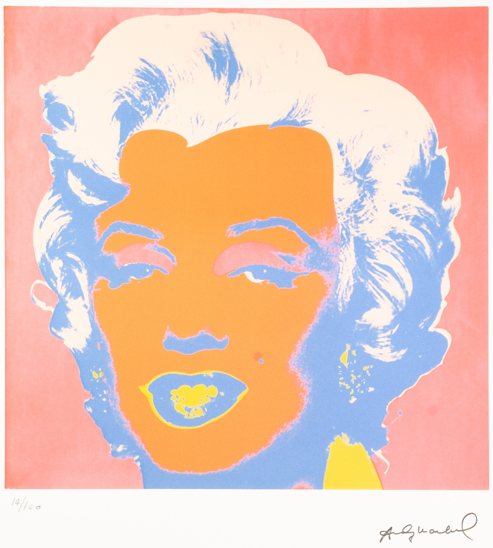 Lot 193 - ANDY WARHOL (AMERICAN 1928 - 1987) COLOURED LITHOGRAPHIC PRINT ON ARCHES PAPER 'Marilyn Monroe'
