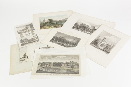 Lot 230 - A QUANTITY OF ETCHINGS to include C.WARREN AFTER B.BAND: CHESTER CATHEDRAL S.W. VIEW G. PICKERING: