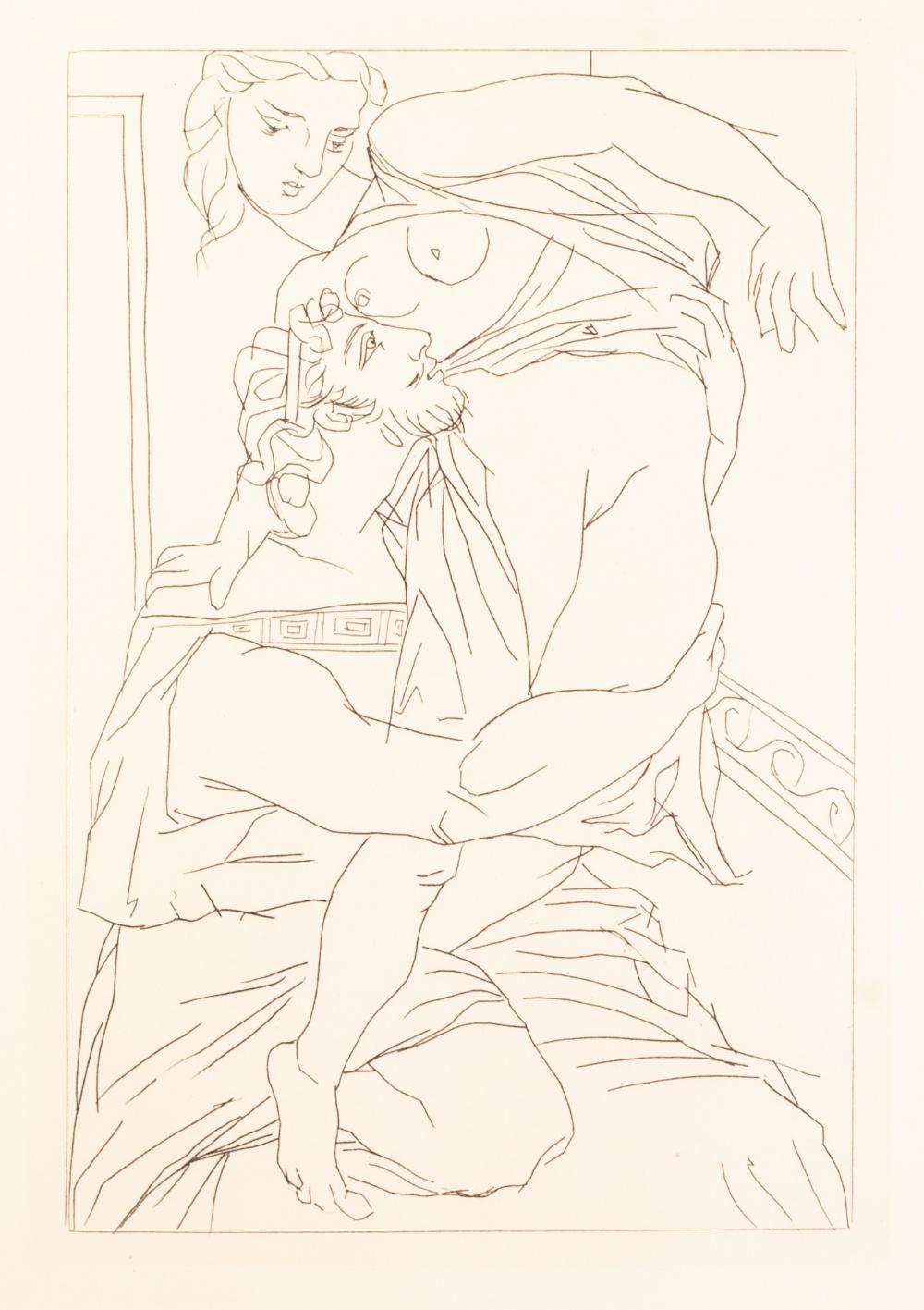 Lot 176 - PABLO PICASSO (SPANISH 1881 - 1973) SUITE OF SIX FACSIMILIE ETCHINGS Respectively 'Couple et
