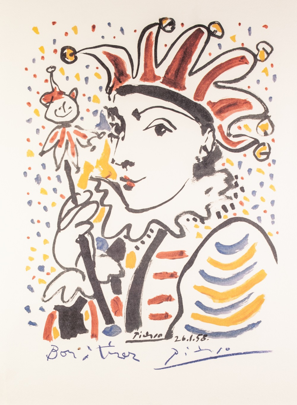 """Lot 180 - PABLO PICASSO (Spanish 1881 - 1973) OFFSET LITHOGRAPH Editing Combat 2000 19 3/4"""" x 15 3/4"""" (50 x"""