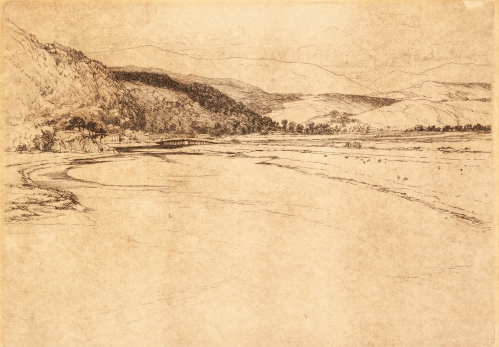 Lot 233 - PERCIVAL GASKELL (1868-1934) SUITE OF THREE ARTIST SIGNED ETCHINGS 'Penmaenpool, North Wales' 'The