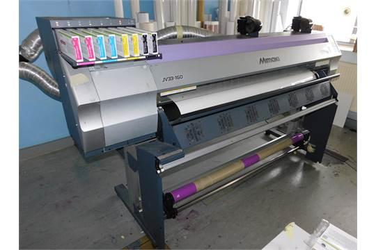 2007 Mimaki Jv33-160 Vinyl Printer, s/n G1711779 with PC