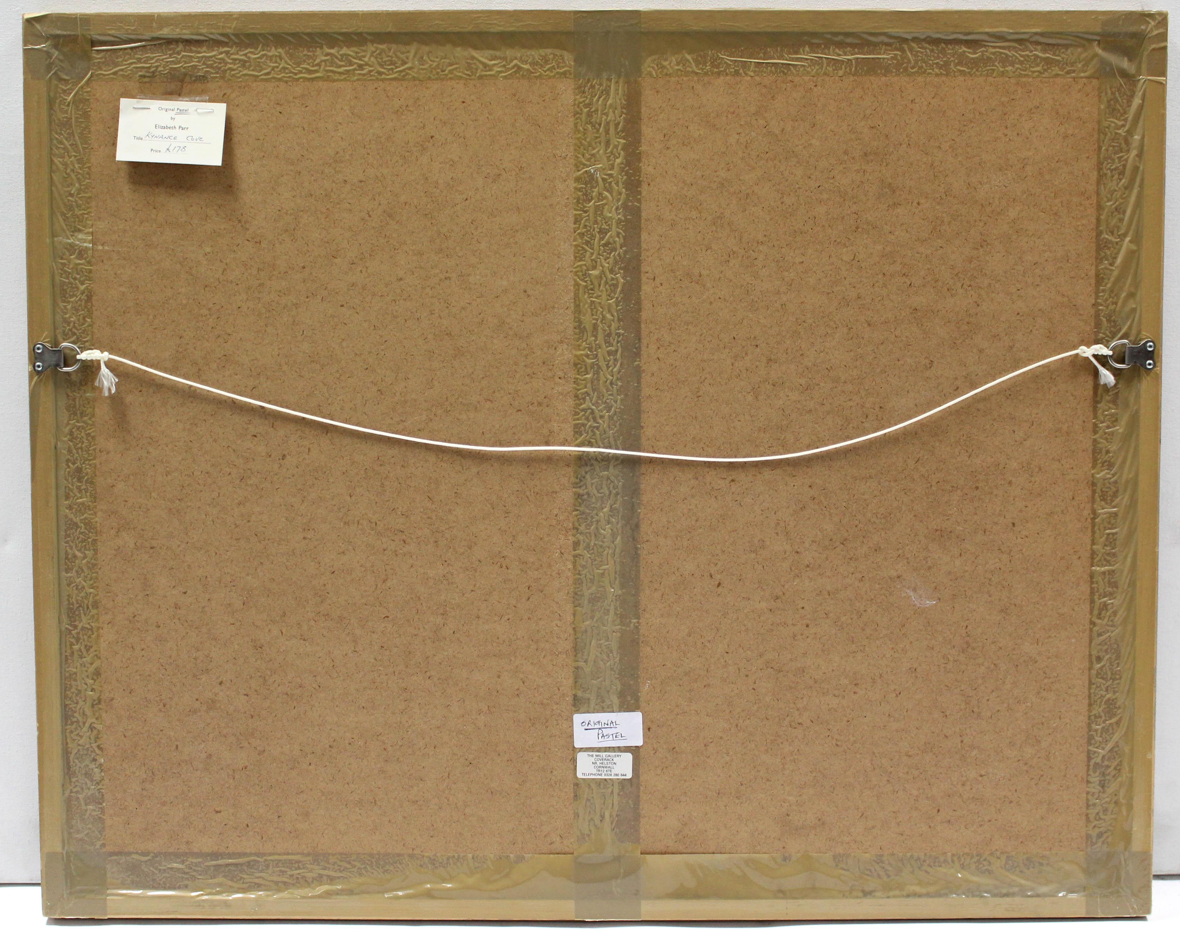 "Lot 182 - ELIZABETH PARR (Newlyn School). ""Kynance Cove"". Signed, Pastels: 18"" x 24½"", in glazed frame."