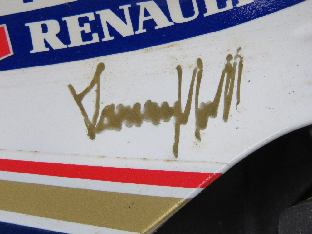 Lot 37 - A 1:18 Pauls Model Art Williams FW16 Renault (Damon Hill) bearing signature of Damon Hill upon,