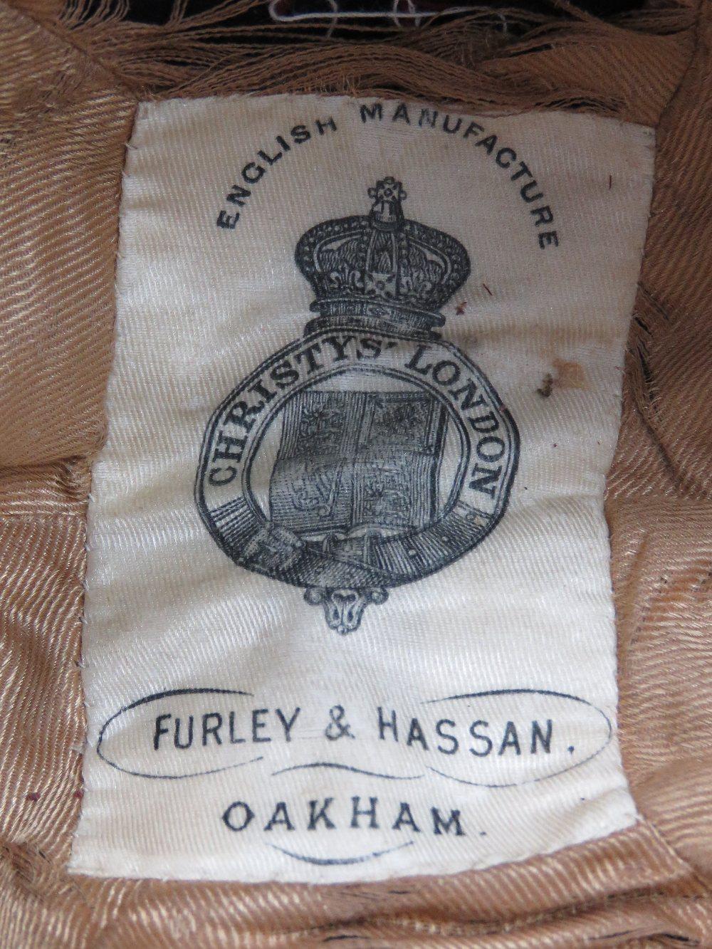 Lot 51 - A good Oakham School Rugby and Football club felt cap with tassel,
