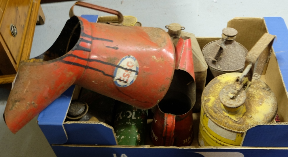 Lot 409 - Group of old oil tins (10 approx)
