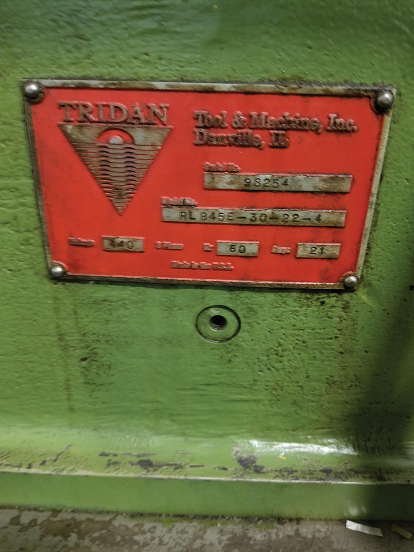 Lot 11 - TRIDAN FINN MACHINE, MODEL RL B45E-30-22-4, S/N 98254, INTEGRATED COIL REEL, TRIDAN TUBE BLOWER /