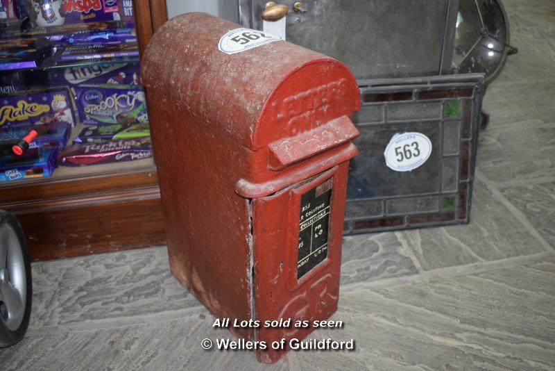 Lot 562 - *ORIGINAL ROYAL MAIL 'GR' LAMP BOX