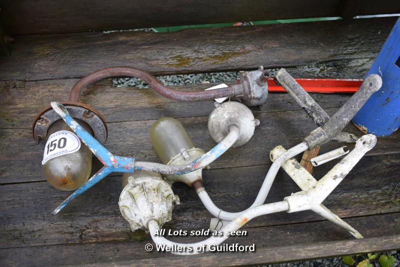 Lot 150 - *FOUR MIXED GALVANISED LIGHT FITTINGS