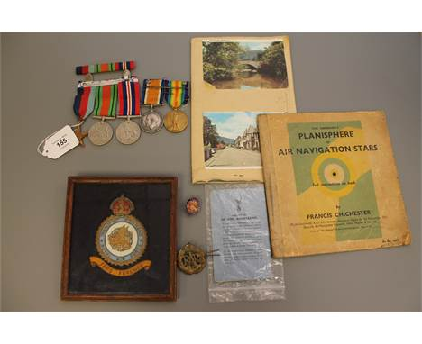 A First and Second World War medal group comprising WWI British War medal and Victory medal (both named to R. E. Pickering ,