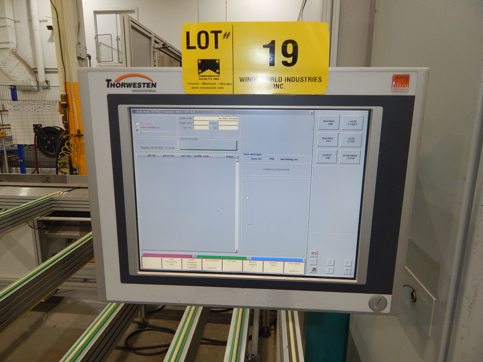 THORWESTERN (2008) PBZ-3 CNC PROFILE MACHINING CENTER WITH WINDOWS PC BASED AR010 TOUCH SCREEN CNC - Image 2 of 9