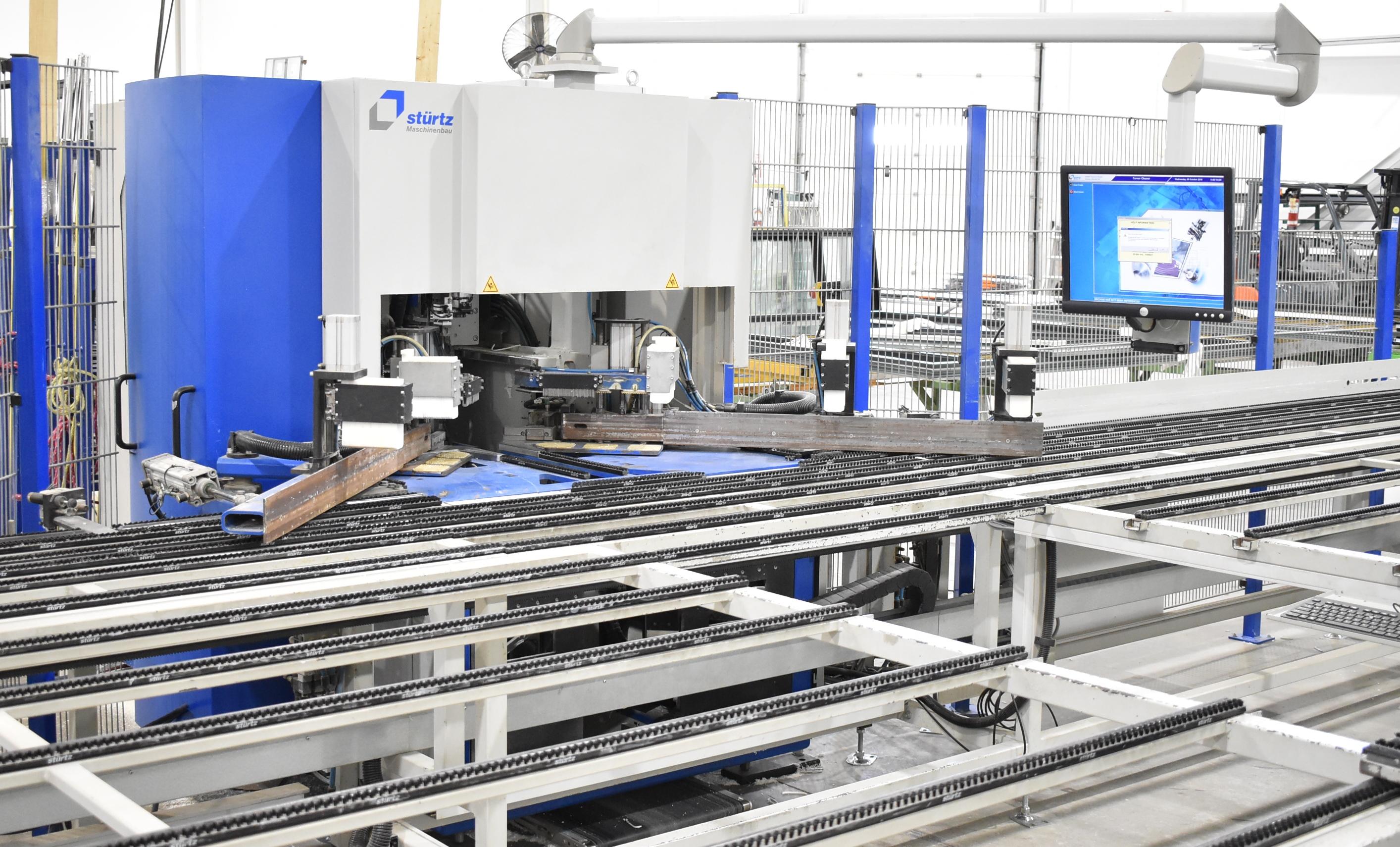 STURTZ (2008) CNC AUTOMATED PVC WELDING AND CLEANING LINE CONSISTING OF, STURTZ (2008) 2MC CNC - Image 2 of 9