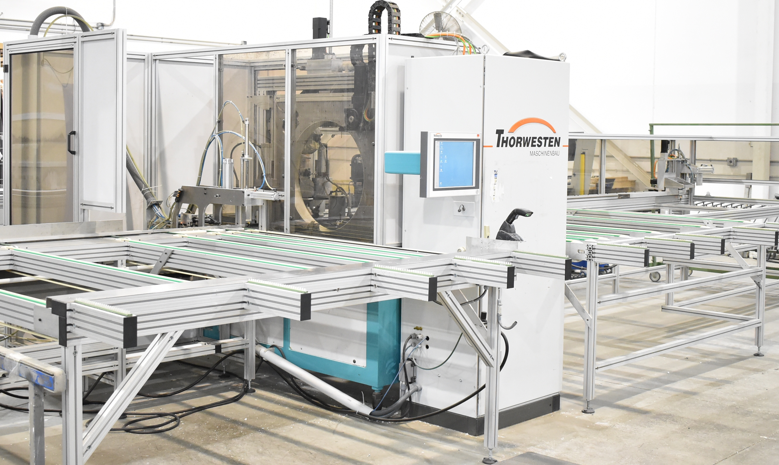THORWESTERN (2008) PBZ-3 CNC PROFILE MACHINING CENTER WITH WINDOWS PC BASED AR010 TOUCH SCREEN CNC