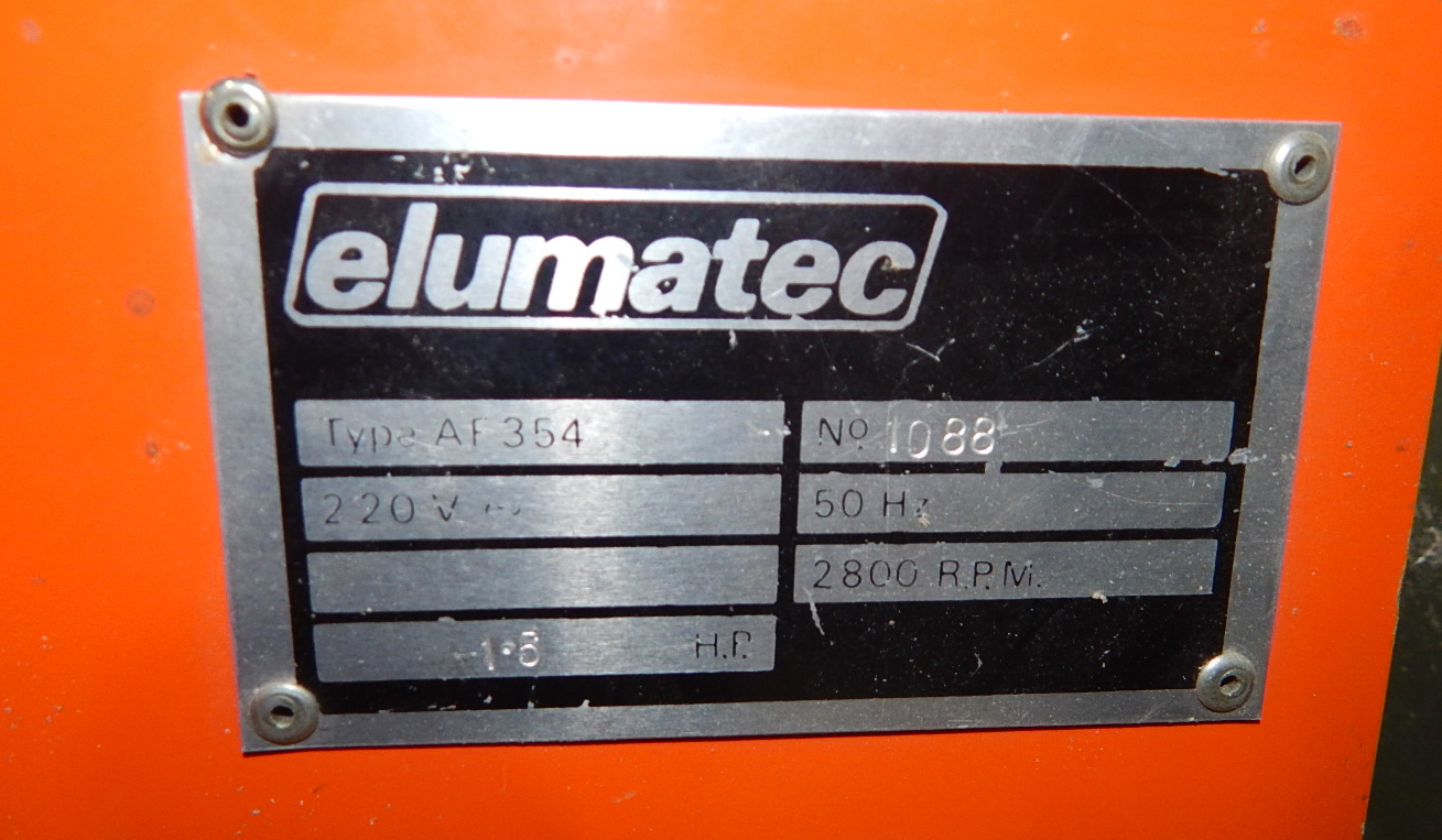 ELUMATEC AF354 END MILLER MACHINE WITH SPEEDS UP TO 2800 RPM S/N: 1088 - Image 3 of 4