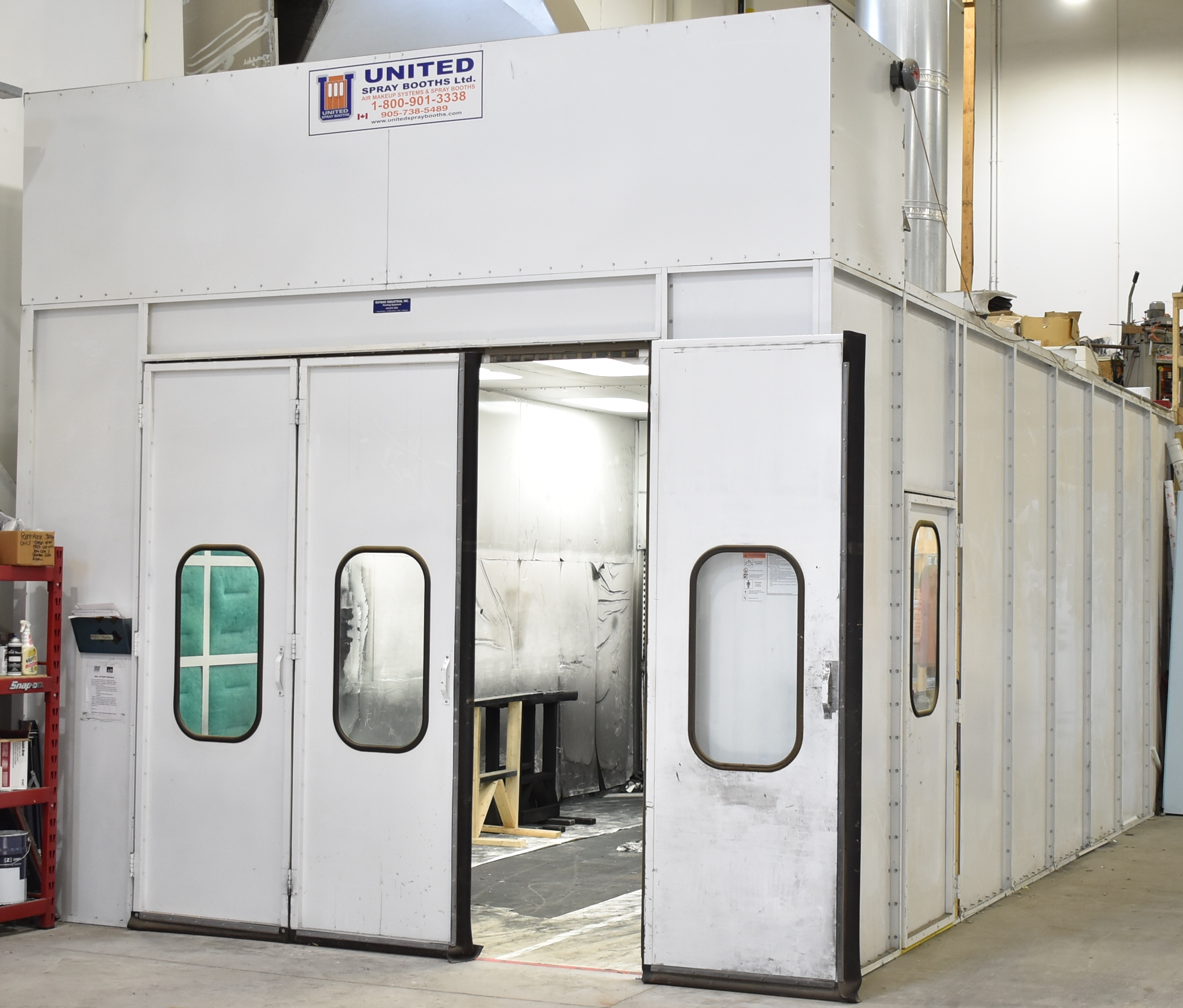 UNITED SB 24.5'L X 10'H X 14'W CROSS DRAFT SPRAY AND FINISHING BOOTH WITH RAYMAR INDUSTRIAL