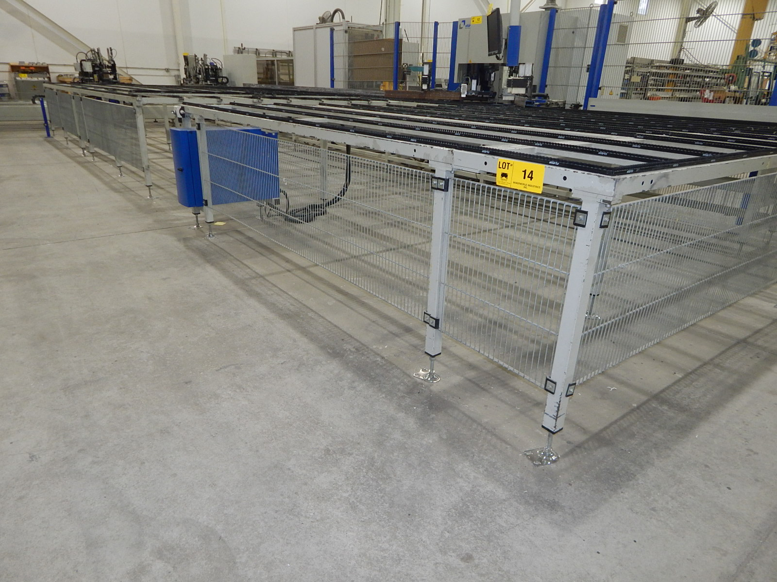"STURTZ APPROX. 150""X450"" FIXED TABLE WITH BRISTLE BRUSH ASSIST, SAFETY CAGE, CONTROLS AND - Image 2 of 2"