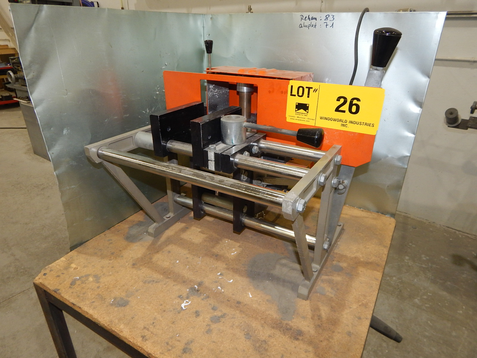 ELUMATEC AF354 END MILLER MACHINE WITH SPEEDS UP TO 2800 RPM S/N: 1088 - Image 4 of 4