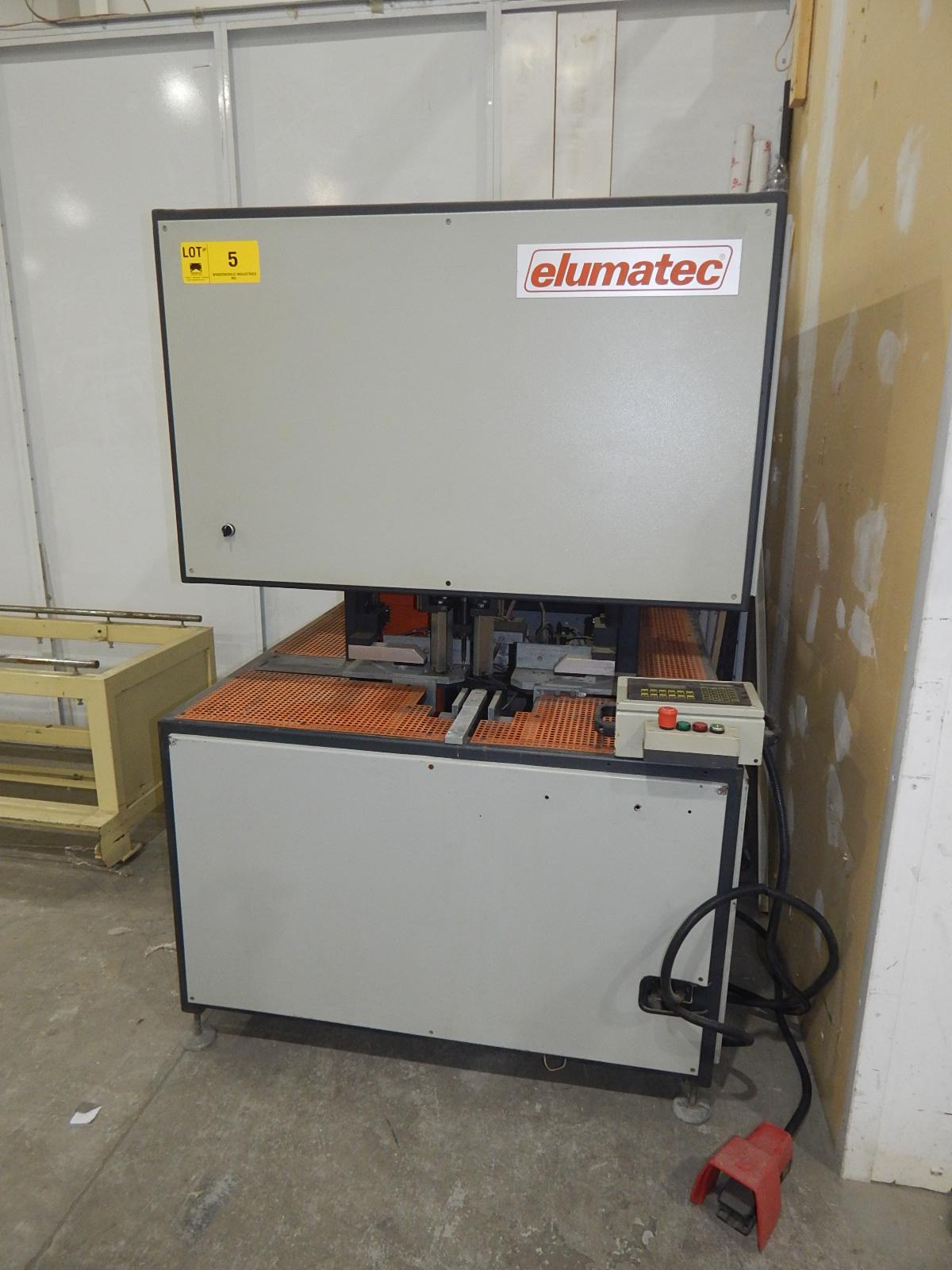 ELUMATEC (2001) TV-873 TRANSOM CLEANER WITH JETTER DIGITAL CONTROL, 400V/3PH/50HZ, S/N: 005 (CI)