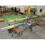 """48"""" X 118"""" PNEUMATIC GEARING TABLE WITH PNEUMATIC CLAMPING AND USM SCREW FEEDER S/N: N/A (CI)"""