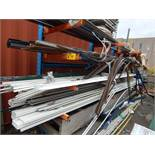 LOT/ MATERIAL RACK WITH VARIOUS PVC