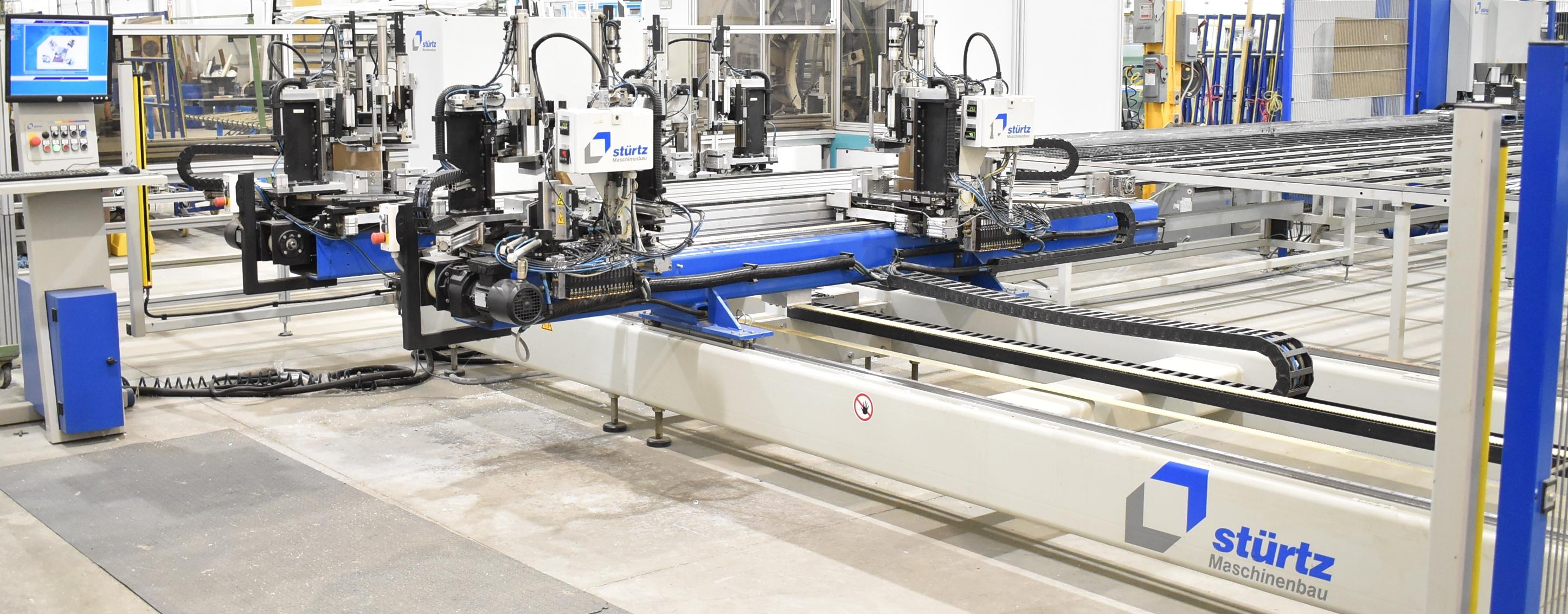 STURTZ (2008) CNC AUTOMATED PVC WELDING AND CLEANING LINE CONSISTING OF, STURTZ (2008) 2MC CNC - Image 3 of 9