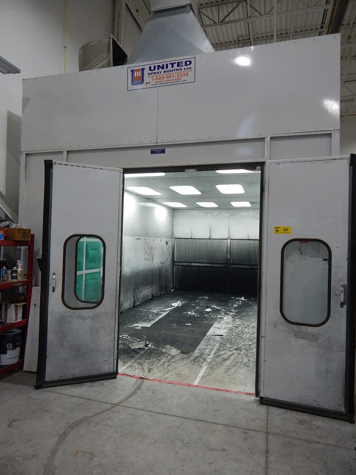 UNITED SB 24.5'L X 10'H X 14'W CROSS DRAFT SPRAY AND FINISHING BOOTH WITH RAYMAR INDUSTRIAL - Image 3 of 9